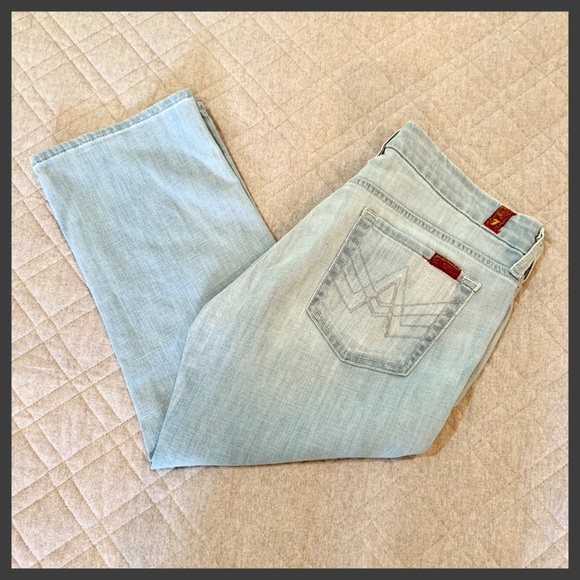 """7 For All Mankind Denim - 🆕🦋 7FAM Crop """"A"""" Pocket Jeans, Size 30"""